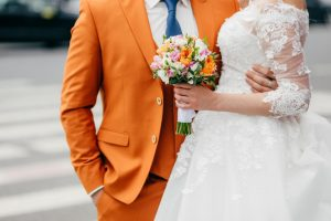 Wedding colored suits for the men