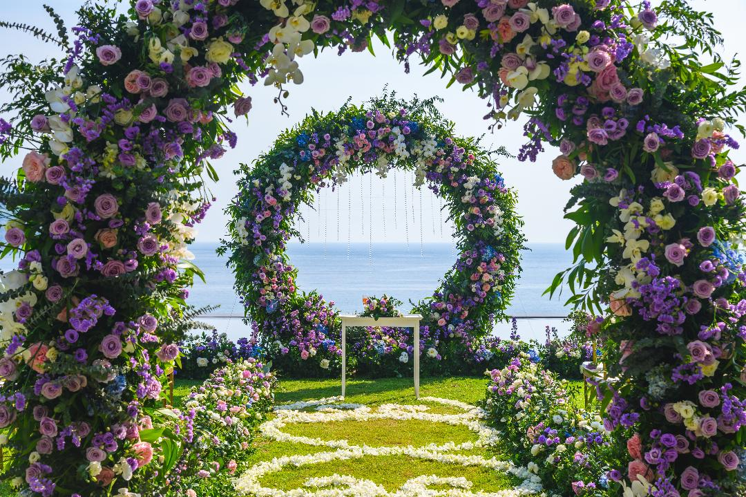 Flower Arch and Background