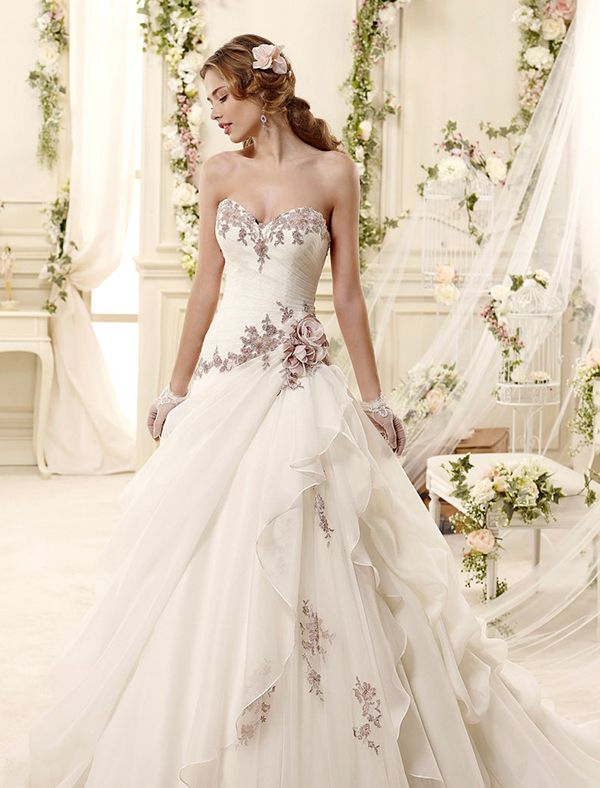 touch of color wedding dress