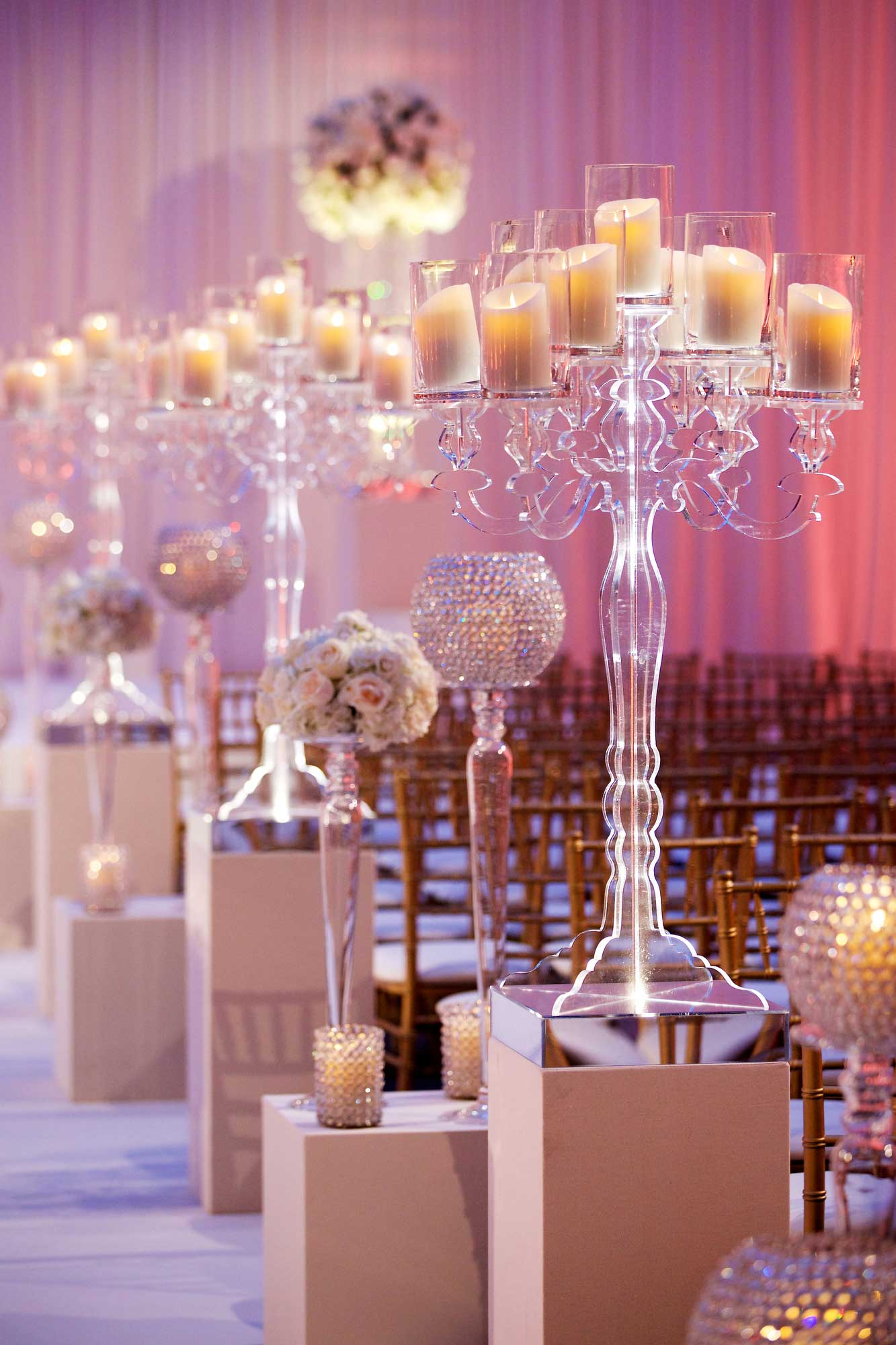 translucent candle holder wedding