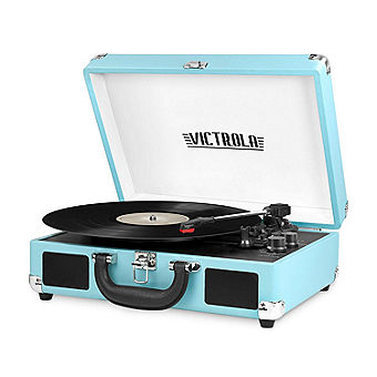 blue record player